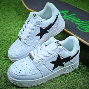 Bape Sta Sneakers White Black Shoes - Best Online Sale
