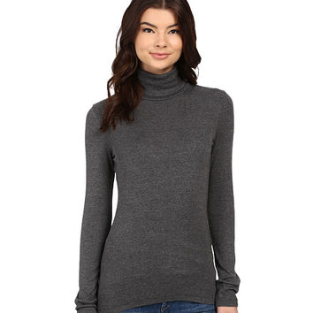 Splendid 1x1 Long Sleeve Turtleneck Charcoal - Zappos.com Free Shipping BOTH Ways