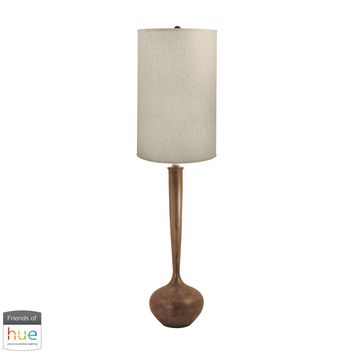 Wooden Tulip Floor Lamp - with Philips Hue LED Bulb/Dimmer