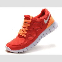 NIKE running shoes light casual shoes Red and orange