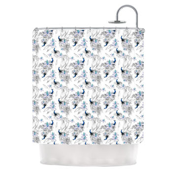 "Danii Pollehn ""Peacock Fun"" Animal Pattern Shower Curtain"