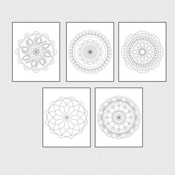 Mandala coloring pages Mandala coloring book Adult coloring book Adult coloring pages Coloring poster Coloring pages Mandala coloring