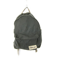 Gray green school Backpack Eastpak school bag Rugged Camping Bag Travel Train Case Vacation Purse Distressed Canvas Bag