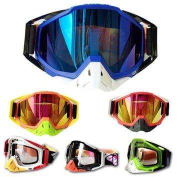 (1pc&10colors) 100% Original Brand Motocross Goggles ATV Casque motocross Motorcycle Glasses Racing Bike Sunglasses