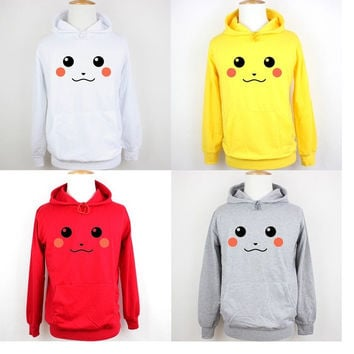 Funny Cute Pokemon Pikachu Birthday Family Custom Vacation Personalized Design Pattern Men's Women's Girl's Boy's Hoodie Sweatshirt Hoody Tops#WM019 = 1932120388