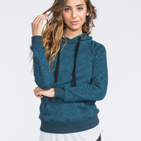 Full Tilt Womens Essential Marled Hoodie Blue  In Sizes