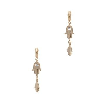 Simple Casual Fashion Jewelry Double Hamsa Hand Drop Earring
