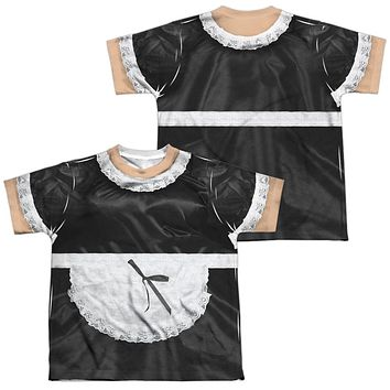 French Maid Halloween Costume Kids T-shirt Front & Back