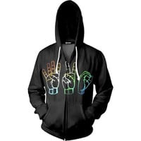 Abstract 420 Zip Up Hoodie