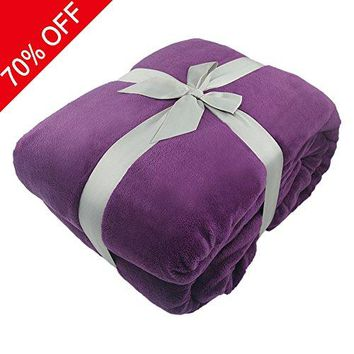 Cozy Blankets, Super Soft Decorative Bed Blanket for Adults, All Seasons Plush Reversible