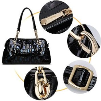 ZOOLER Leather Handbags for Women Shoulder Chain Bags Crossbody Bag Large Purse