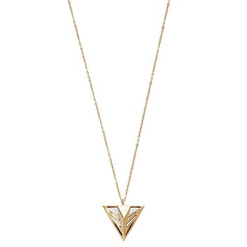 Mirror Geo Triangle Necklace