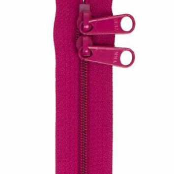 Two Pull Handbag Zipper #4.5 YKK 30 inches Wild Plum Extra Wide Tape Extra Long Pulls