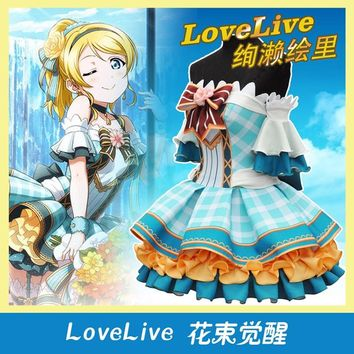 Love Live flowers Bouquet Honoka Kotori Umi Eli Nozomi Maki Rin Hanayo Nico cos Dress Cosplay Costume Halloween costume