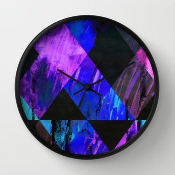 AXV6 Wall Clock by Georgiana Paraschiv | Society6