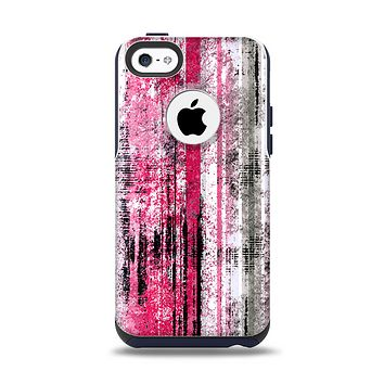 The Vintage Worn Pink Paint Apple iPhone 5c Otterbox Commuter Case Skin Set