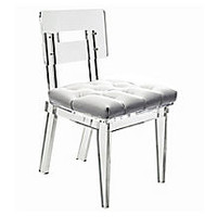 Rio Dining Chair, Clear/WhitePLEXI-CRAFT