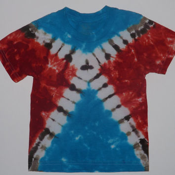 Tie Dye Shirt or Tank / Triangles - Choose Any Size (Adults, Kids, Toddlers) Style Shirt, and Colors