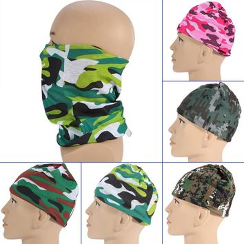 Unisex Polyester Microfiber Bandanas Headwear Sport Women Seamless Headwear Head Wrap Multifunctiol Hoofdband for Camp Cycling