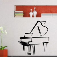 Wall Decal Vinyl Sticker Music Piano Decor Sb395