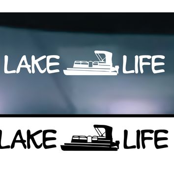 (2) TWO Lake Life Vinyl Graphic Decal