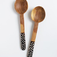Sister Golden | Spotted Olivewood Servers