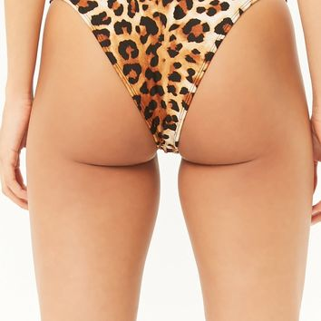 Cheetah High-Leg Bikini Bottoms