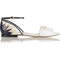 Bionda Castana - Shirin leather and mesh sandals