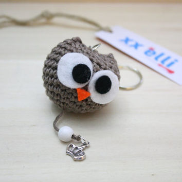 "Keyring ""OWL"" ring little Bell/rattle"