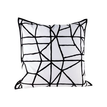 Cracking Pillow With Goose Down Insert Embroidery