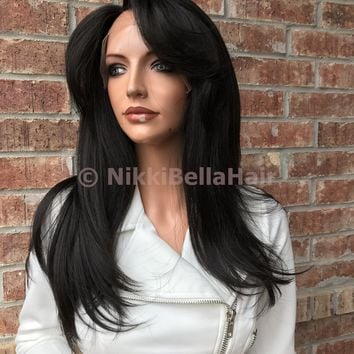 "Kayla Natural Texture 16"" Swiss Lace Front Wig /Sale/"