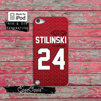 Teen Wolf Inspired Stiles Stilinski Jersey Lacrosse Alpha iPod Touch 4th Generation or iPod Touch 5th Generation Rubber or Plastic Case