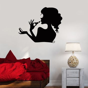 Vinyl Decal Beauty Salon Cosmetics Makeup Woman Girl Room Wall Stickers Unique Gift (ig071)