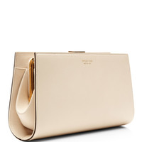 Leather Clutch by Sergio Rossi - Moda Operandi