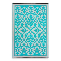 Fab Habitat Venice Indoor/Outdoor Rug in Turquoise
