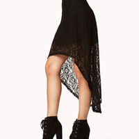 High-Low Lace Skirt
