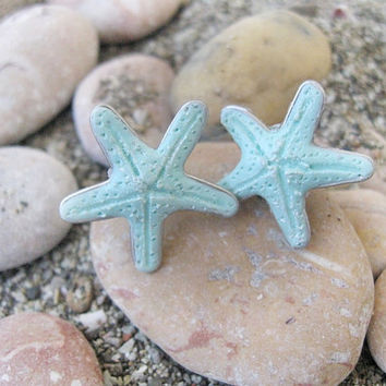 SALE Sea Star Studs Starfish Earrings Hawaiian Jewelry Blue studs Sea Beach Free shipping