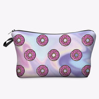 KAWAII Pink Doughnuts Pencil & Makeup Bag