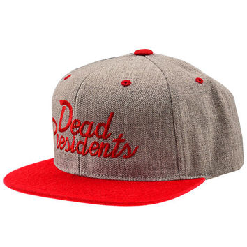 The Dead Presidents Script Snapback in Heather/Red