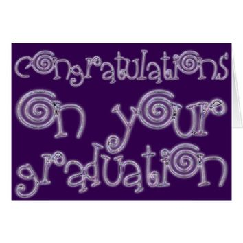 Congratulations Graduation Chic Typography Purple Card