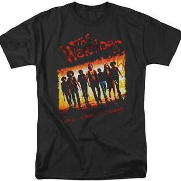 The Warriors Movie One Gang Photo Logo Licensed Adult T-Shirt - Black