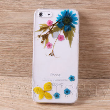 iPhone 6 case iPhone 6 plus Pressed Flower, iPhone 5/5s case, iPhone 4/4s case,  5c case Galaxy S4 S5 Note 2 note 3 Real Flower case NO:F100