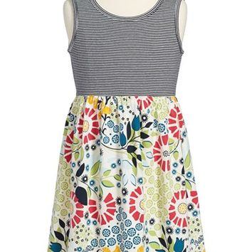 Girl's Tea Collection 'Seaside Garden' Tank Dress,