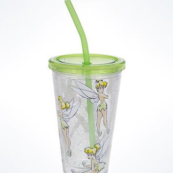Disney Parks Tinker Bell Acrylic Tumbler with Straw New