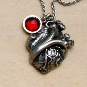 Human heart necklace by Anatomology on Etsy