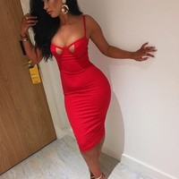 Larissa-Bodycon Cut Out Bandage Mini Dress
