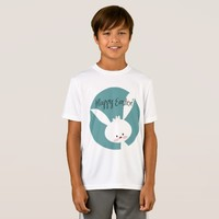 Happy Easter Cute Bunny Kids' Sport-Tek T-Shirt