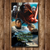 Star Wars The Force Awakens Digital Poster Print. 8.5''x14'' Digital Poster. Easy to Download, print and mount! Best for last minute gifts.