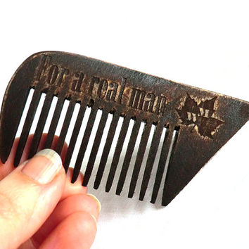 Beard comb for a small beard Wooden Comb Vintage style Comb hair Wooden Comb for beard Combs Comb Idea for gift Dad gift Gift for dad