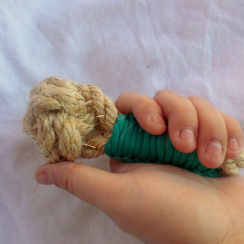 small dog monkey fist teether chew toy